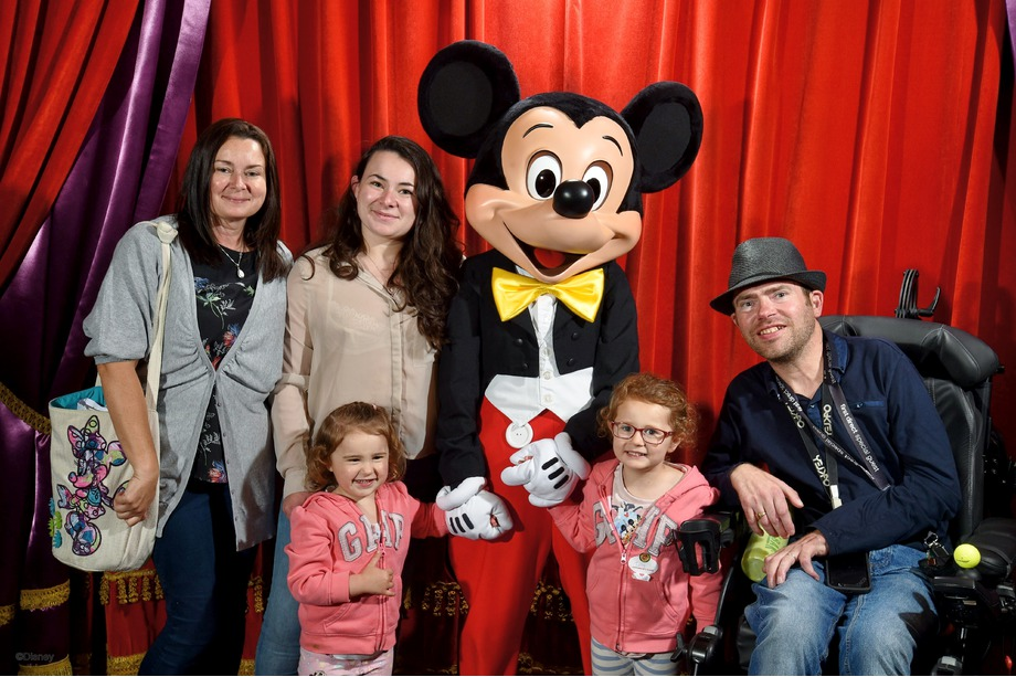 The whole family with Mickey