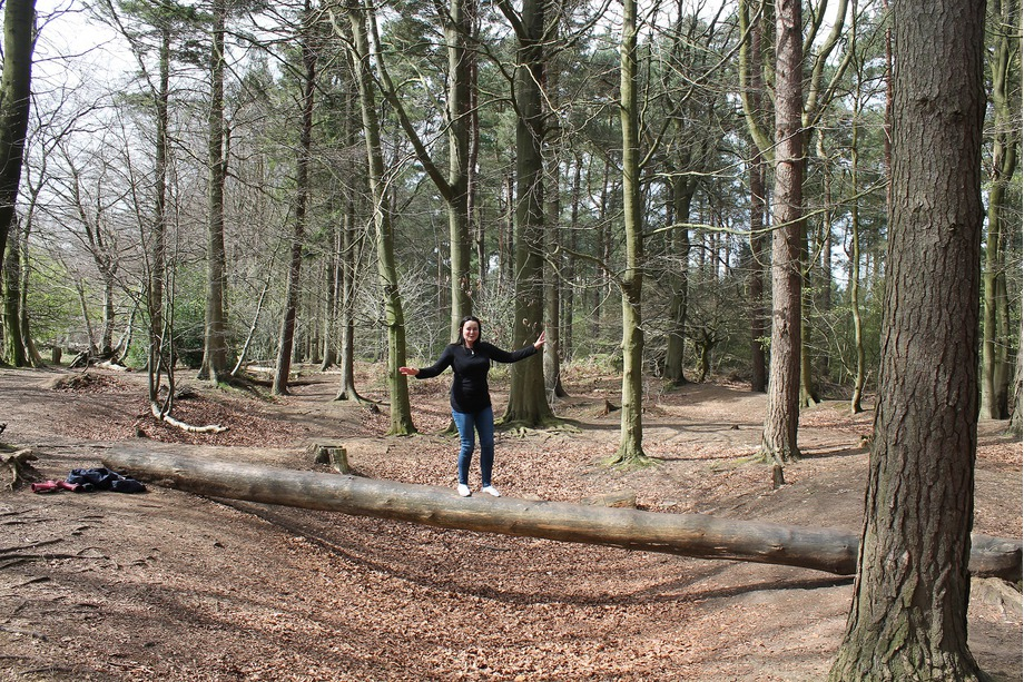 Liz in Dalby Forest