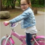Centre Parcs - Lilly on her bike