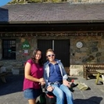 Jason & Liz at the Pen-Y-Pass Youth Hostel