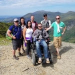 The group climbing Mount Snowdon