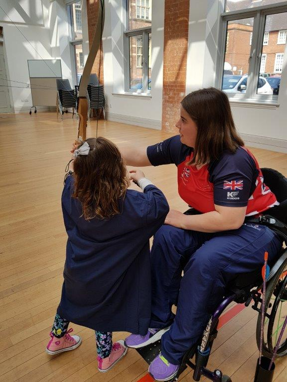 Poppy learning from a Para Olympian
