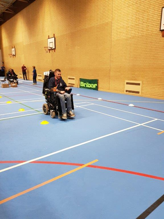 wheelchair slalom