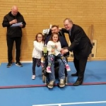 Winning the trophy with Lord Prescott